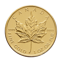 1 oz 2012 Canadian Maple Leaf Gold Coin