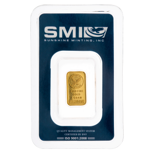 1 gram Sunshine Mint Gold Bar