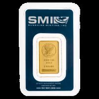 5 g dünner Goldbarren - Sunshine Prägeanstalt