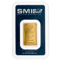 10 gram Sunshine Mint Gold Bar