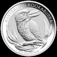 Pièce d'argent Kookaburra australien 2012 de 10 onces