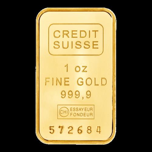 Credit Suisse – 1 oz Feingold – 999.9 – Essayeur Fondeur (CHI) – Seriennummer