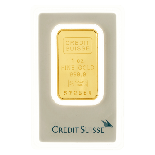 1 oz dünner Goldbarren - Credit Suisse