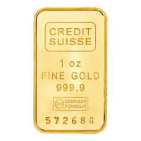 1 oz Goldbarren Credit Suisse