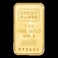 1 oz dünner Goldbarren - Credit Suisse