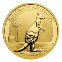 1 oz 2012 Australian Kangaroo Gold Nugget Coin