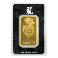 1 oz NTR Year of the Dragon Gold Bar