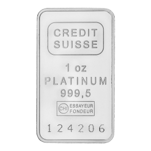 1 oz Credit Suisse Platinum Bar