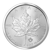 Moneta in platino 1oz Anno casuale Canada Maple Leaf (foglia d'acero)