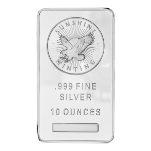 10 oz Sunshine Mint Zilveren Baar