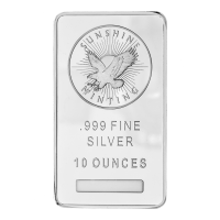Lingot d'argent Sunshine Mint de 10 onces