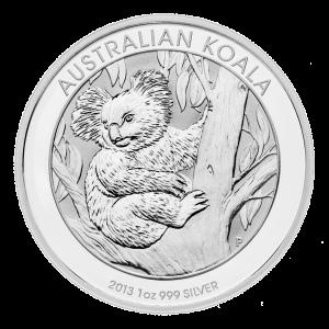 1 oz Silbermünze - australischer Koala - 2013