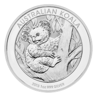 Moneta in argento australiana 1 oz 2013 Koala