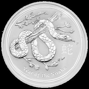 10 oz Silbermünze Jahr der Schlange Mondserie 2013