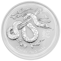 10 oz 2013 Lunar Year of the Snake Sølvmynt