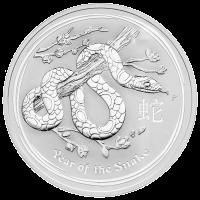 10 oz Silbermünze - Jahr der Schlange - 2013