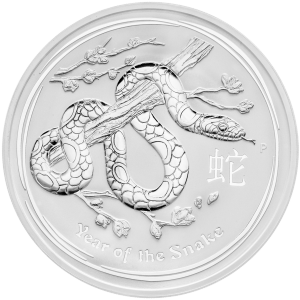 1 kg | kilo 2013 Perth Mint Lunar Year of the Snake Silver Coin