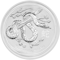 1 kg | kilo 2013 Lunar Year of the Snake Silver Coin