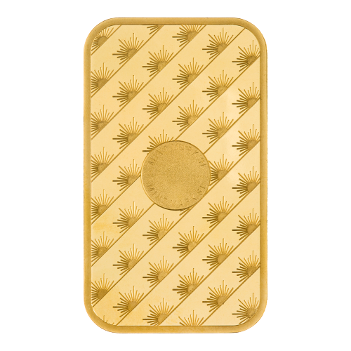 1 oz dünner Goldbarren - Sunshine Münzanstalt
