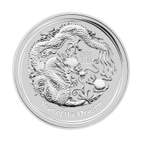 1/2oz 2012 Lunar Year of the Dragon Silver Coin