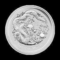 1/2 oz Silbermünze - Jahr des Drachen - 2012