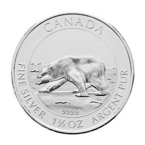 1.5 oz 2013 Canadian Polar Bear Silver Coin
