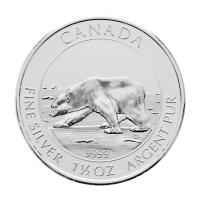 Moneda de Plata Oso Polar Canadiense 2013 de 1.5 oz