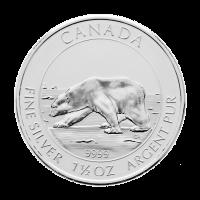 1,5 oz Silbermünze - kanadischer Eisbär - 2013