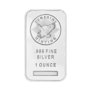 1 oz Sunshine Mint Silver Wafer Bar