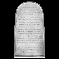 Barre in argento 2 x 150 oz  Dieci Comandamenti