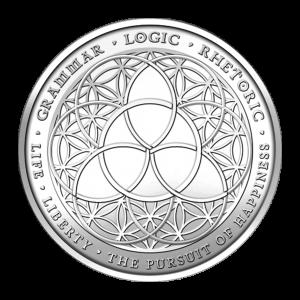1 oz Trivium Silver Round