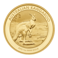 1 oz 2014 Land Down Under Series - Gold Rush Coloured Silver Coin