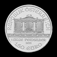 Moneda de Plata Filarmónica Austríaca Año Aleatorio de 1 oz