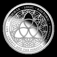 1 oz Silbermedaille - Trivium Zustand: Spiegelglanz