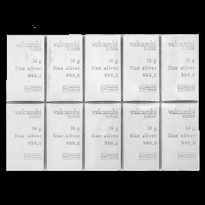 CombiBar d'argent Valcambi de 100 g (10 x 10 g)