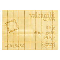 Zlatý CombiBar Valcambi 50 g (50 x 1 g)