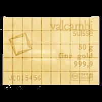 50 g (50 x 1 g) Valcambi Gold Kombinationsbarren