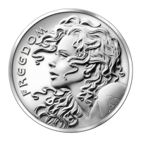 1 oz 2013 Freedom Girl Zilveren Plak