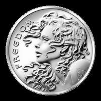 1 oz Silbermedaille - Freiheitsmädchen - 2013