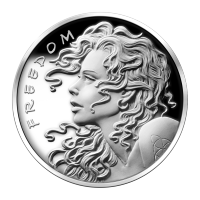 Disco in argento proof-like 1 oz 2013 Freedom Girl