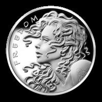 1 oz Silbermedaille - Freiheitsmädchen - 2013 Zustand: Spiegelglanz