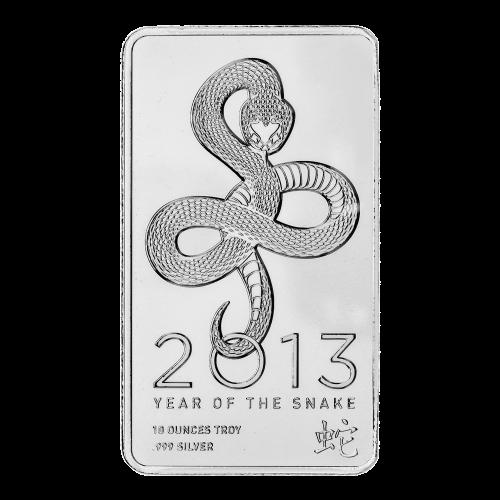 10 oz Silberbarren von NTR - Jahr der Schlange