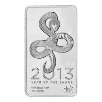 גוש כסף Year of the Snake מ-NTR משקל עשרה אונקיות