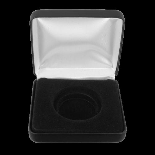 Münzausstellerbox aus Kunstleder - 1 Münze
