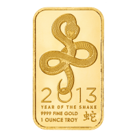 1 oz 2013 Ohio Precious Metals Year of the Snake Gold Bar