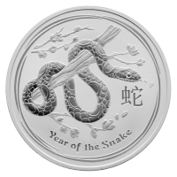 1 oz 2013 Lunar Year of the Snake Silver Coin