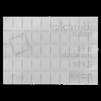 Platinový CombiBar Valcambi 50 g (50 x 1 g)