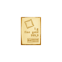 1 g Stück eines Gold Kombinationsbarrens - Valcambi