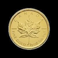 1/2 oz kanadische Goldmünze - Ahornblatt - Zufallsjahr