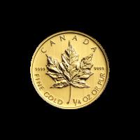 1/4 oz kanadische Goldmünze - Ahornblatt - Zufallsjahr